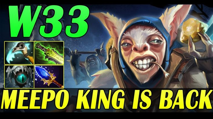 Meepo KING is BACK! W33 playing Meepo in Patch 7.00 |Dota 2 Pro Gameplay