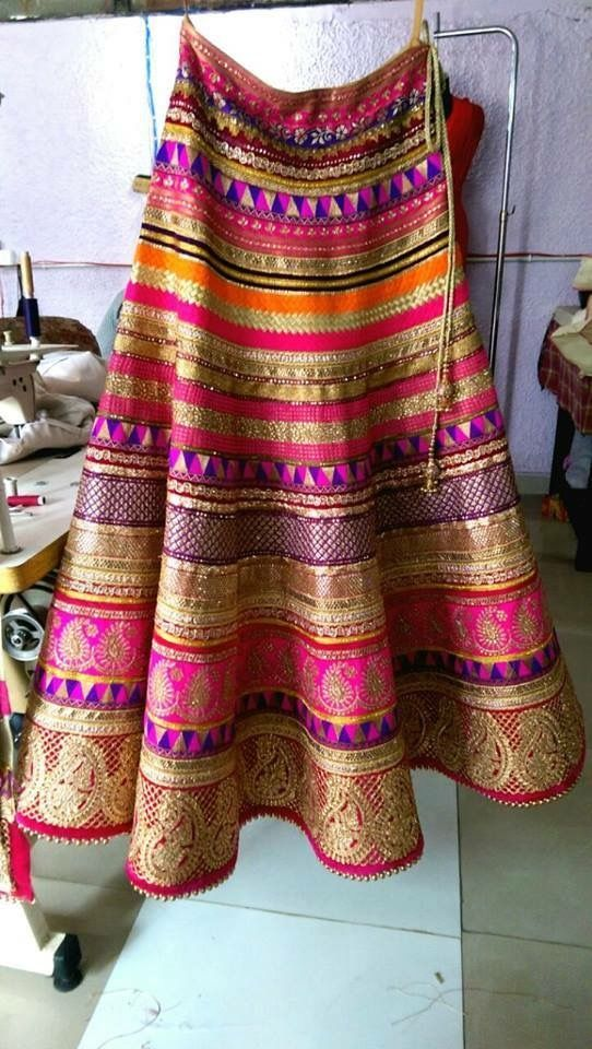 Beautiful lahenga,multi color lahenga