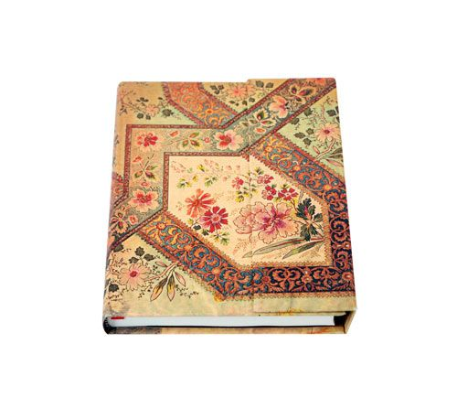 The Floral Ivory Lined journal reproduces a striking French fabric design with astonishing fidelity.
