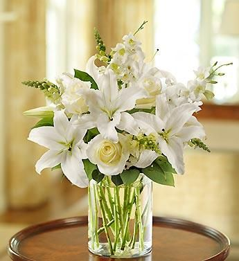all white flower arrangements - Bing Images