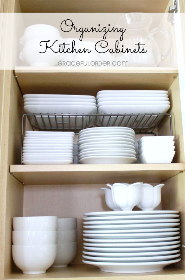 Organizing the kitchen cabinets!  Having your cabinets looking as good on the inside as they do on the outside!  – Graceful Order