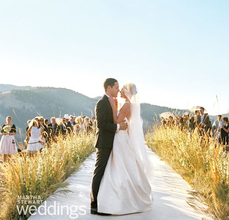 So pretty...  Kate Bosworth and Michael Polish's Romantic Western Wedding