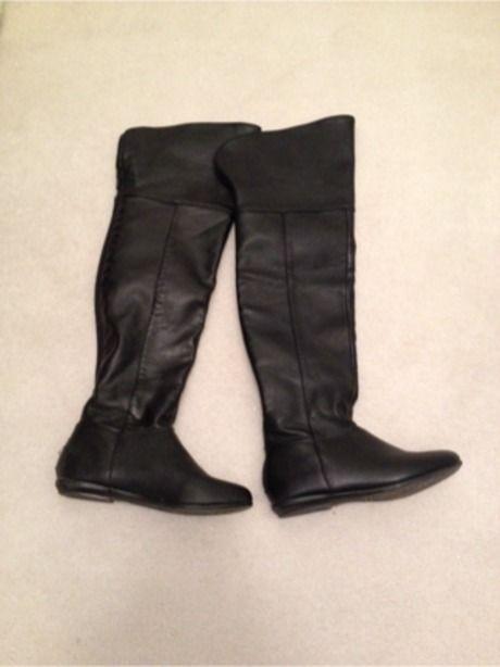 Available @ TrendTrunk.com Aldo black knee high boots flat Boots. By Aldo black knee high boots flat. Only $25.00!