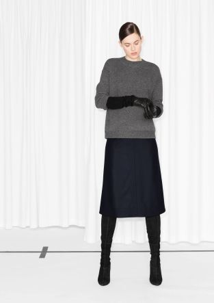 Slightly oversized with an overall clean-cut look, this comfy sweater counts as a wardrobe hero.