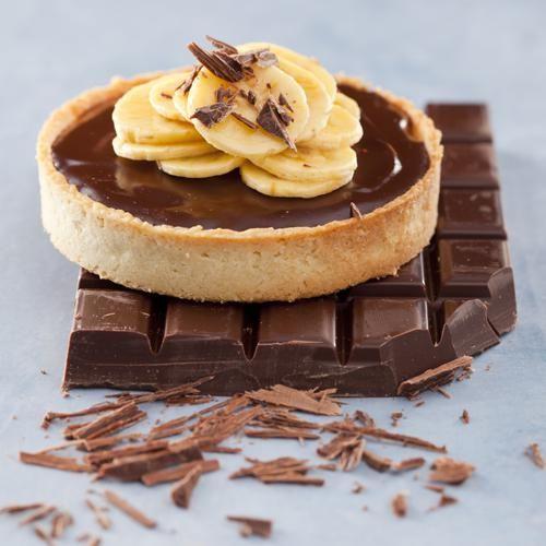 Venez découvrir notre recette de tartelette chocolat-banane.