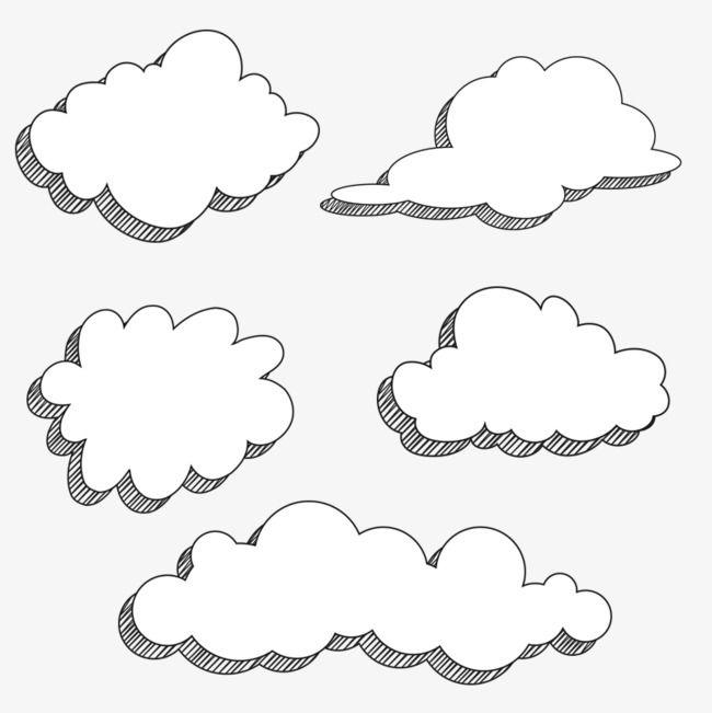 Cartoon Clouds Cartoon Clouds Comic Cloud Cloud Drawing