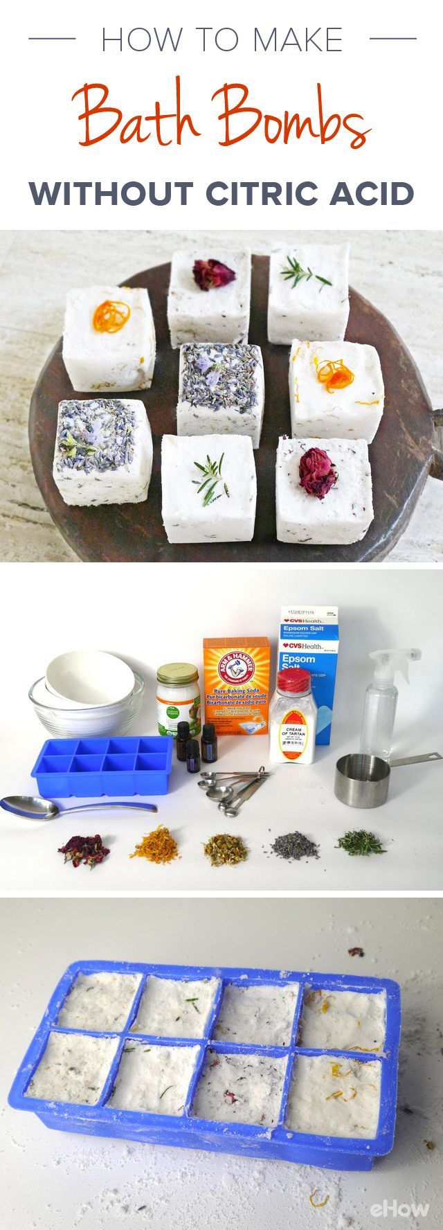 Bath bombs leave your bathwater cleansing & soothing. However, bath bombs can be expensive and include citric acid that can be harsh on your skin. DIY it using ingredients found at the grocery store, and omit the citric acid. This recipe calls for cream of tartar, which, when combined with baking soda, will give you the same fizzy results!