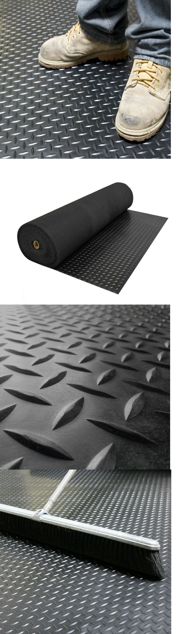 Equipment Mats and Flooring 179806: Rubber Flooring For Home Gym Garage Floor Protector 4Ft Black Trunk Liner Roll -> BUY IT NOW ONLY: $75.99 on eBay!