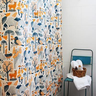 Cortina de baño Bosques del Sur Naranja