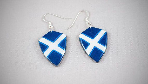 #handmade #heraldic #shield #scotland #earrings #thesilverlance #etsy