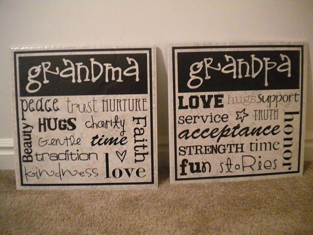 Grandparents: Grandma Gifts, Subway Art, Christmas Presents, Gifts Ideas, Grandparents Gifts, Grand Kids, Christmas Ideas, Xmas Ideas, Christmas Gifts