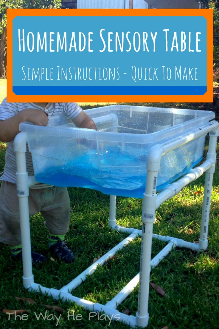 how to make a homemade sensory table quickly cheaply and with simple instructions