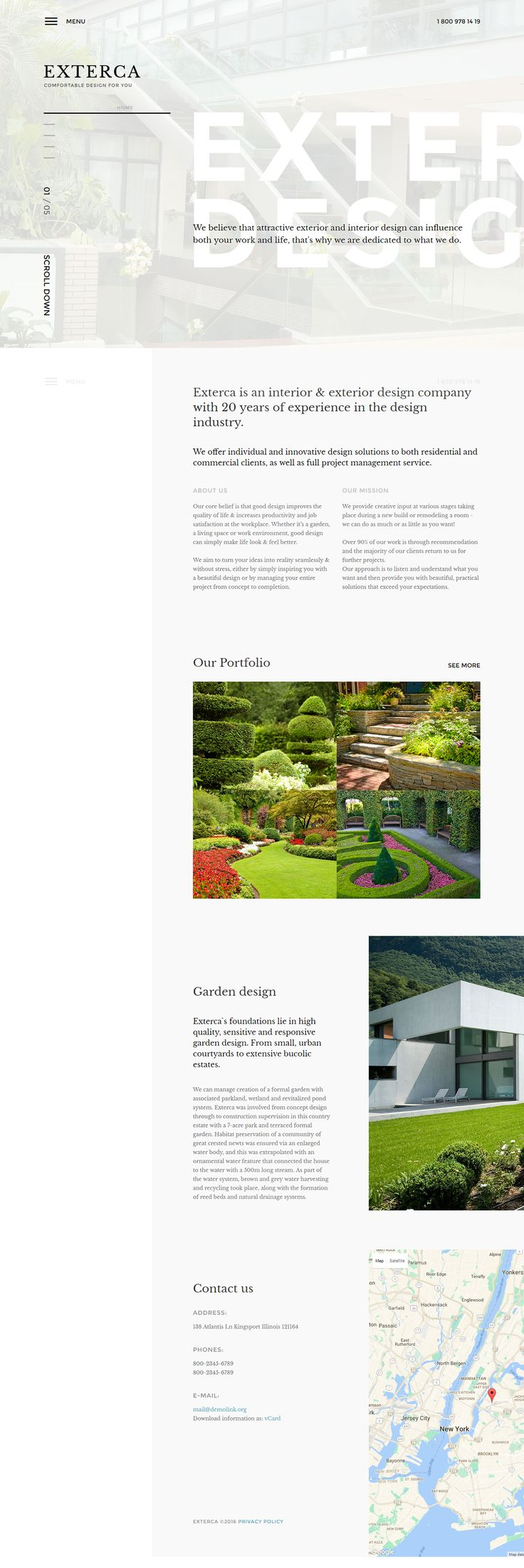 Exterior Design Joomla Template on Behance 27