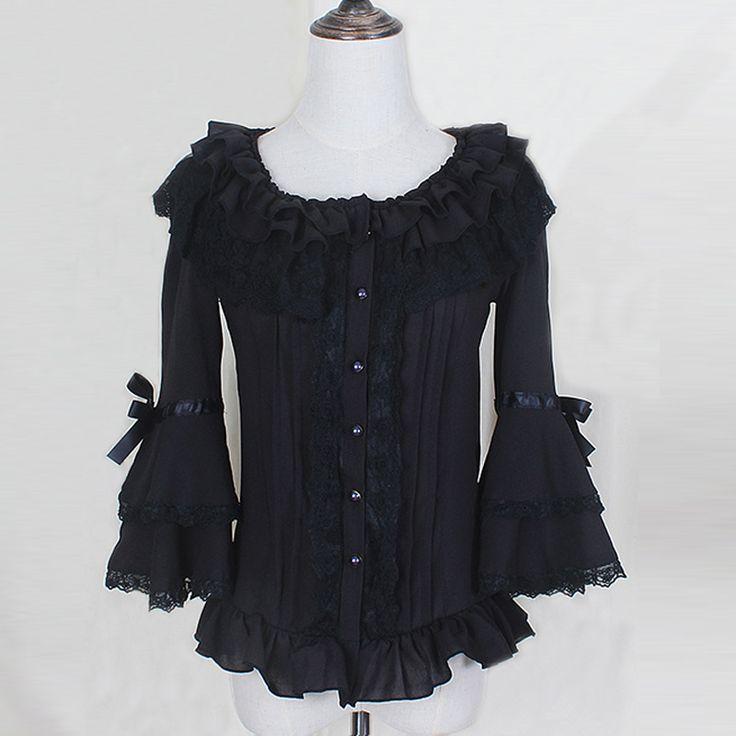 Купить товарВесна лето женщин белый короткие рубашки Дамы кружева Шифон Готический рубашки Ruffled симпатичные повседневная блузка лолита костюм в категории Блузки и рубашкина AliExpress. Spring women white shirt Ruffled Vintage Victorian shirts Ladies gothic swallowtail blouse lolita costumeUSD 3