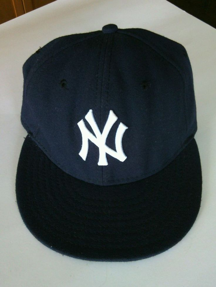 New York Yankees Baseball Cap MLB Hat Navy 59fifty  Authentic New Era Fitted Fit | eBay