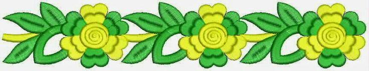 Groen en geel kleur Kant grens