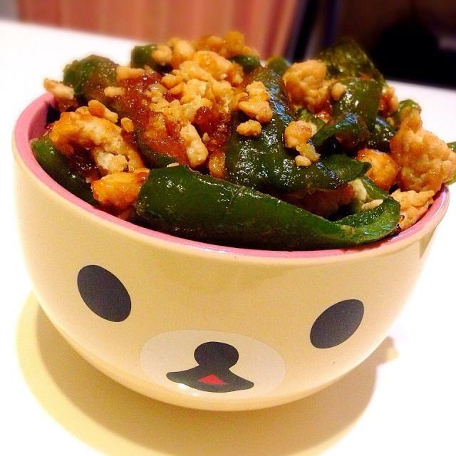 和食っぽい味付けが食べたくて..♪ - 4件のもぐもぐ - ピーマンそぼろ丼 by mopekkuma
