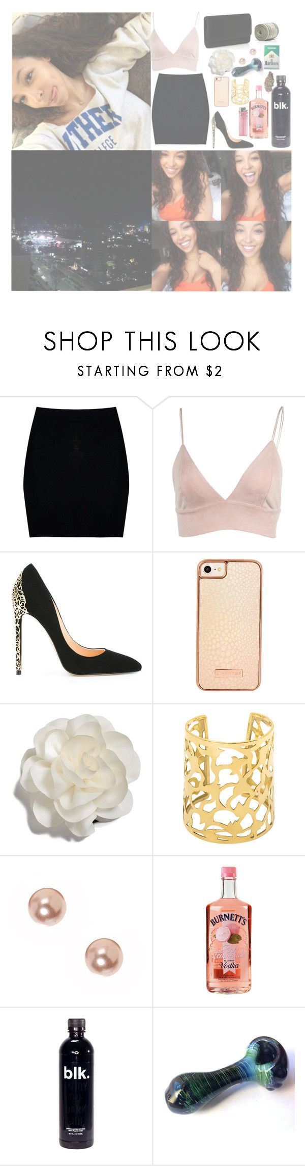 """""""Alicia"""" by musickilledme ❤ liked on Polyvore featuring Boohoo, Cerasella Milano, Skinnydip, Cara and claire's"""