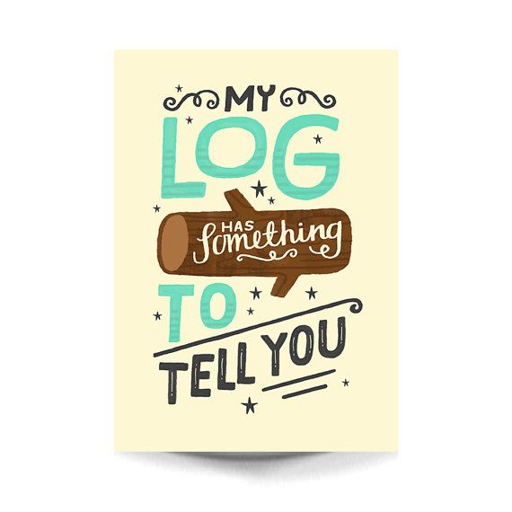 A4 Twin Peaks Art Print - 'My Log Has Something To Tell You' - Typography / Illustration / Hand Lettering / Twin Peaks by stephsayshello
