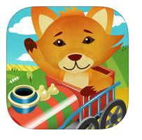 Reading Train -- This app includes over 150 beginner books that teach kids how to read.