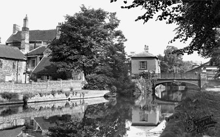 Town Bridge And Haling Path c1955, Thetford