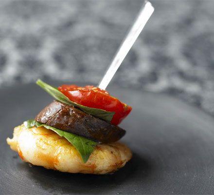 prawn, chorizo and cherry tomato kebab canope