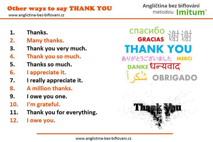 Je mnoho způsobů, jak vyjádřit slova díků...
