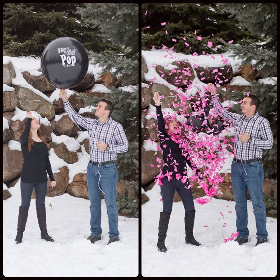 Wouldn't this be a fun way to announce baby's gender? This gender reveal balloon would add so much POP to the party!