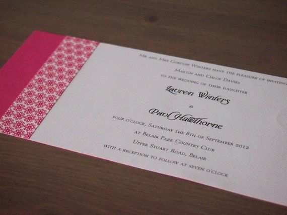 48 best wedding invitations images on pinterest free printable this wedding invitation called hot pink hollywood sleek has been made using bright pink card stopboris Images