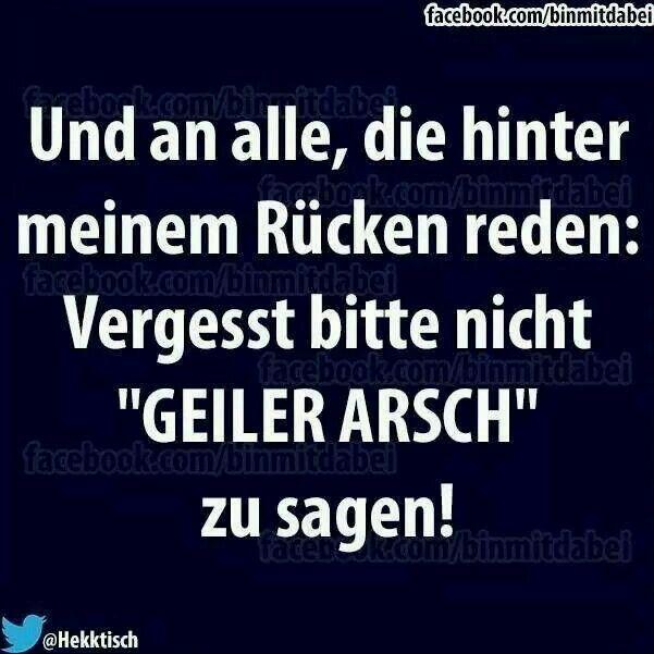 Geiler Arsch :)