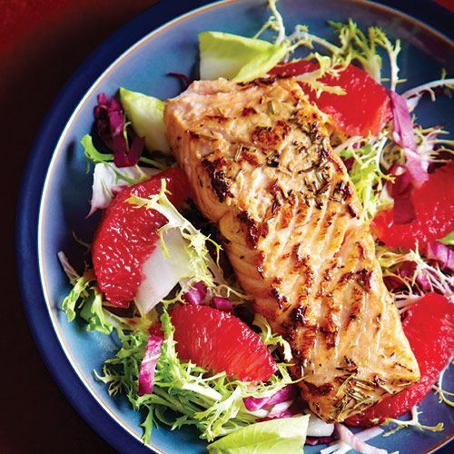 Salmon & Blood Orange Salad: A short marinade infuses the salmon with ...