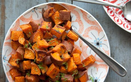 Coconut Roasted Sweet PotatoesCoconutoil, Fun Recipe, Side Dishes, Whole Food Marketing, Coconut Roasted, Coconut Oil, Gluten Free, Roasted Sweet Potatoes, Roasted Sweets Potatoes
