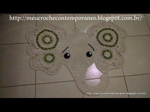 Tapete Elefantinha Graciosa 2ª parte (Elephant Rug, part 2)