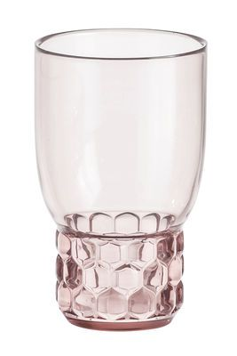 Bicchiere Jellies Family / Small - H 11 cm Rosa design Patricia Urquiola for Kartell
