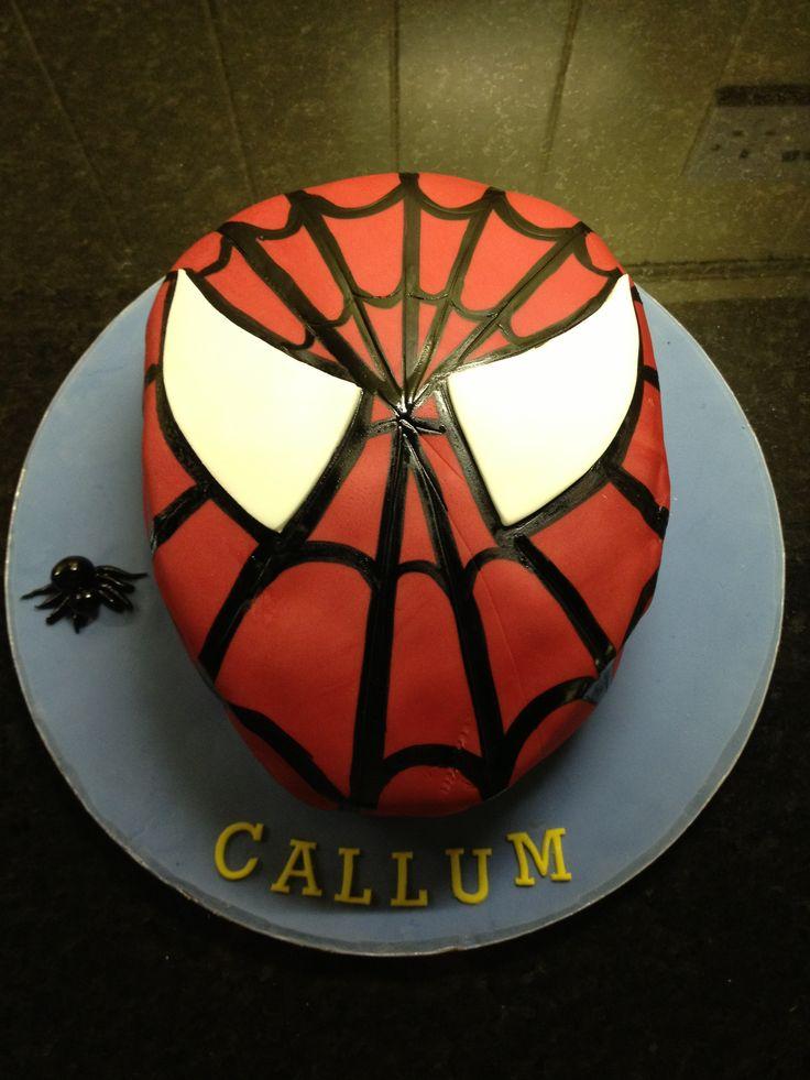 Kids spiderman birthday cake