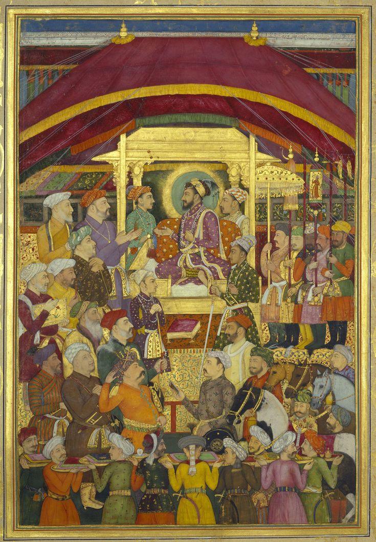 Shah-Jahan receives the Persian ambassador, Muhammad-Ali Beg (26 March 1631)
