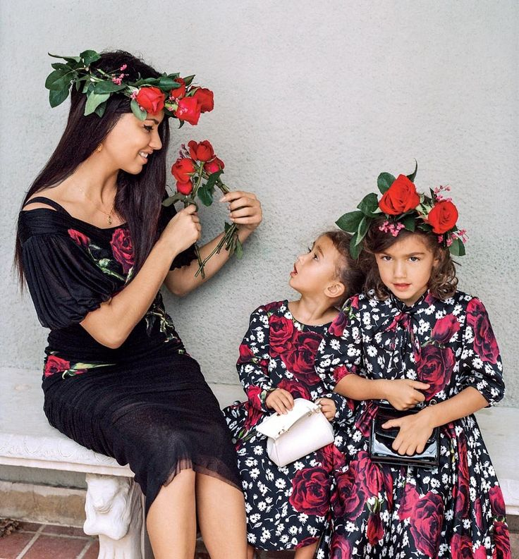 Adriana Lima and her daughters photographed by Bruce Weber, Vogue, December 2015.