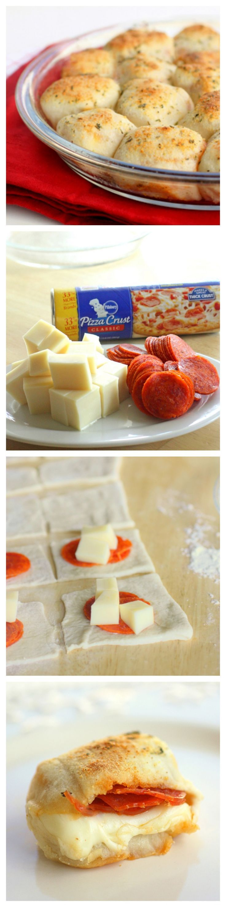 Stuffed Pizza Rolls ~ These can made as an appetizer, lunch, or even dinner for your family in less than 30 minutes. These rolls are a great way to get your kids involved in the kitchen.