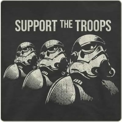 Support the Troops Stormtrooper T-Shirt