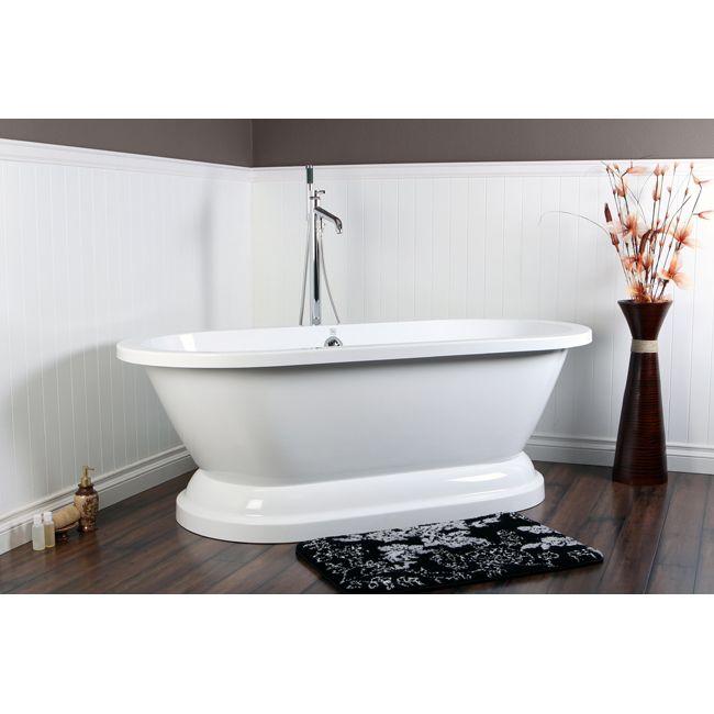 54 inch freestanding tub. Modern Acrylic Pedestal Tub with Chrome Floor Mount Filler  Drain 39 best Bathtubs images on Pinterest Kingston brass Aqua and