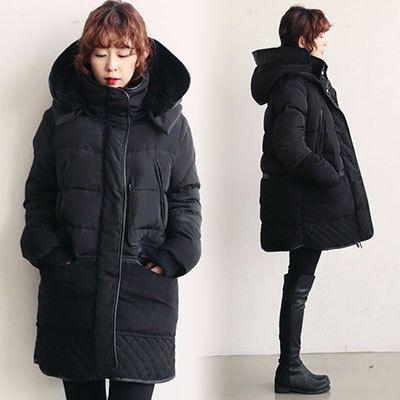 Купить товар2015 зимние горячие супер теплый пуховик женщины длинные средний н куртки женский европейский стиль зима армейские одежды в категории Пуховики и паркина AliExpress.              Тяжелый вес 1.1-1.35kgs                                     Гарантия 100% белая утка вниз