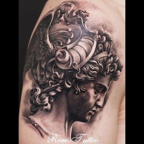 7 best athena tattoo images on pinterest greek mythology for Greek sculpture tattoo
