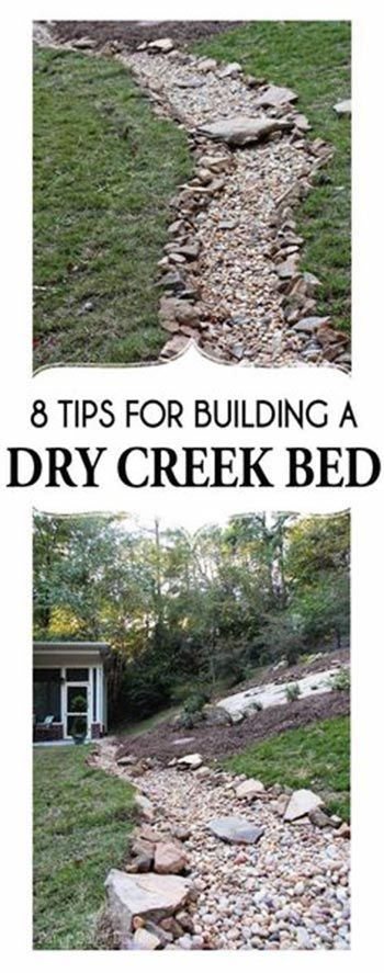 If you've come this far and still aren't convinced that creating a dry creek bed in your backyard is achievable, then take a look at this. Not only are these some really great ideas, you can also see how painless and easy it really is.