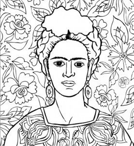 artist of the month frida kahlo frida kahlo coloring pages