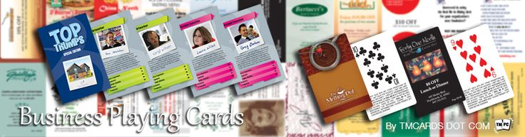 Customized #playingCards can be completely customized to have the companies branding on the back and their varied products and services on the fronts with each card leaving a memory hook of the branding and the list of products.