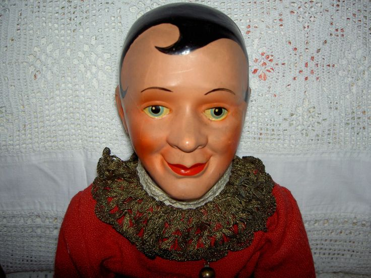 кукла ссср АНТИКВАРНАЯ петрушка винтаж папье маше для музея