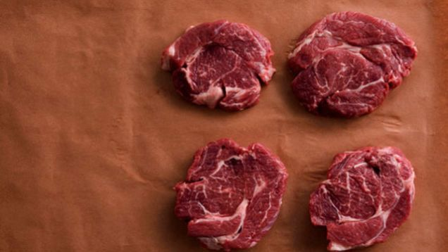 Meat, especially steaks, can be expensive budget busters. To save money, buy cheaper larger beef portions such as a boneless chuck roast and ask the butcher to slice the roast into steaks. The most tender part of the boneless chuck roast is the chuck eye steak, which normally sells for double the cost per pound than just a boneless chuck roast.