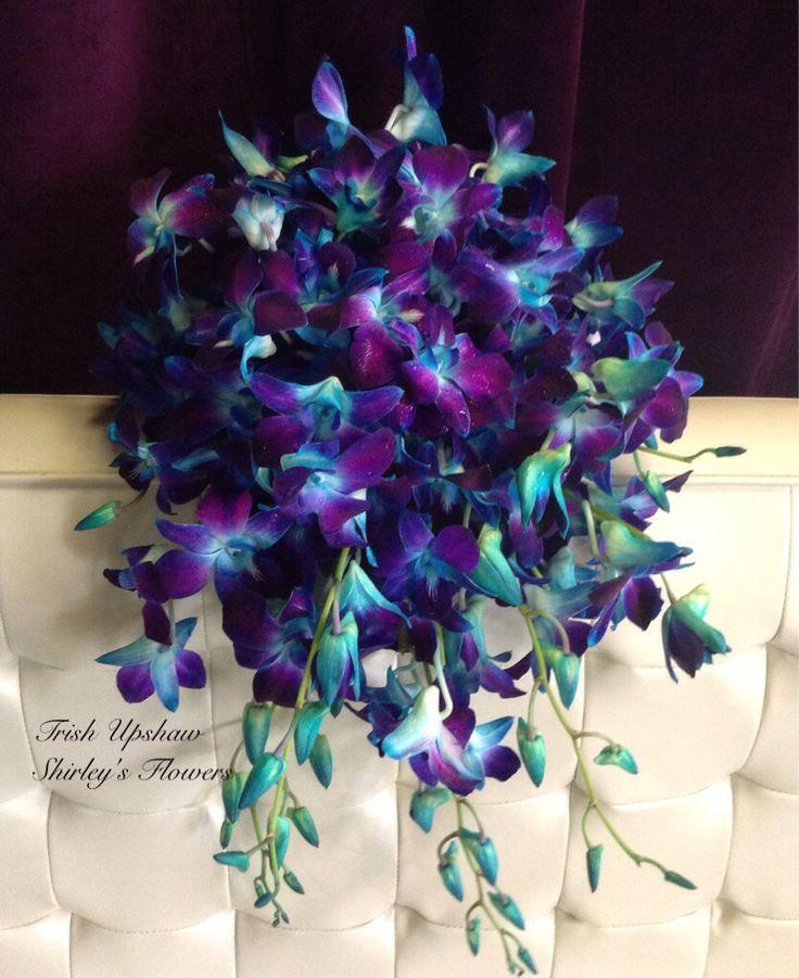 Blue dendrobium orchid bouquet | Floral designs | Pinterest