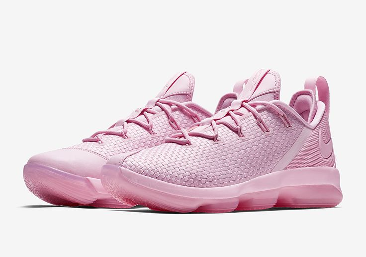 Nike LeBron 14 Low Pink (Style Code: 878635-600) will release Summer 2017 featuring a new woven upper in monochromatic pastel shades. More: