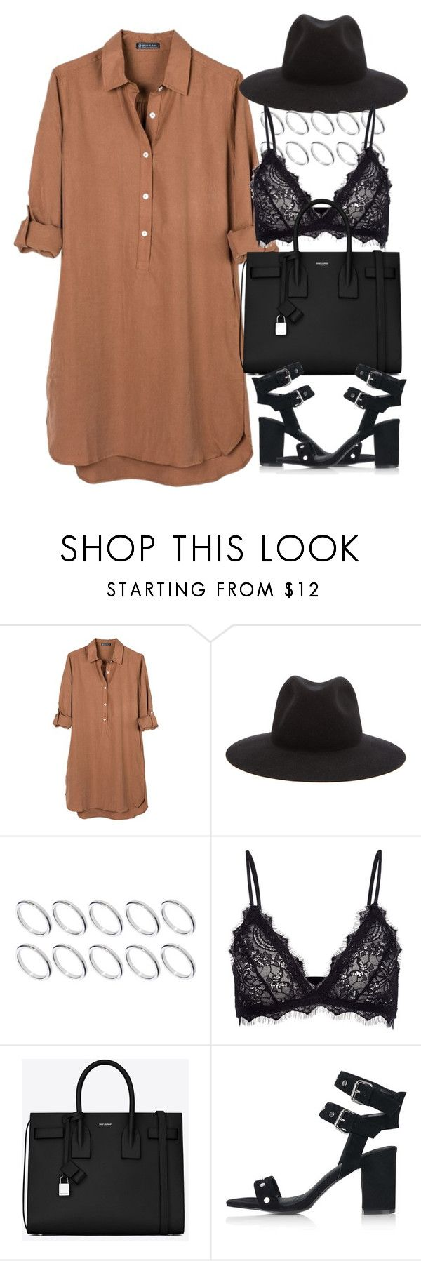 """""""Untitled #4203"""" by maddie1128 ❤ liked on Polyvore featuring United by Blue, rag & bone, ASOS, Anine Bing, Yves Saint Laurent and Topshop"""